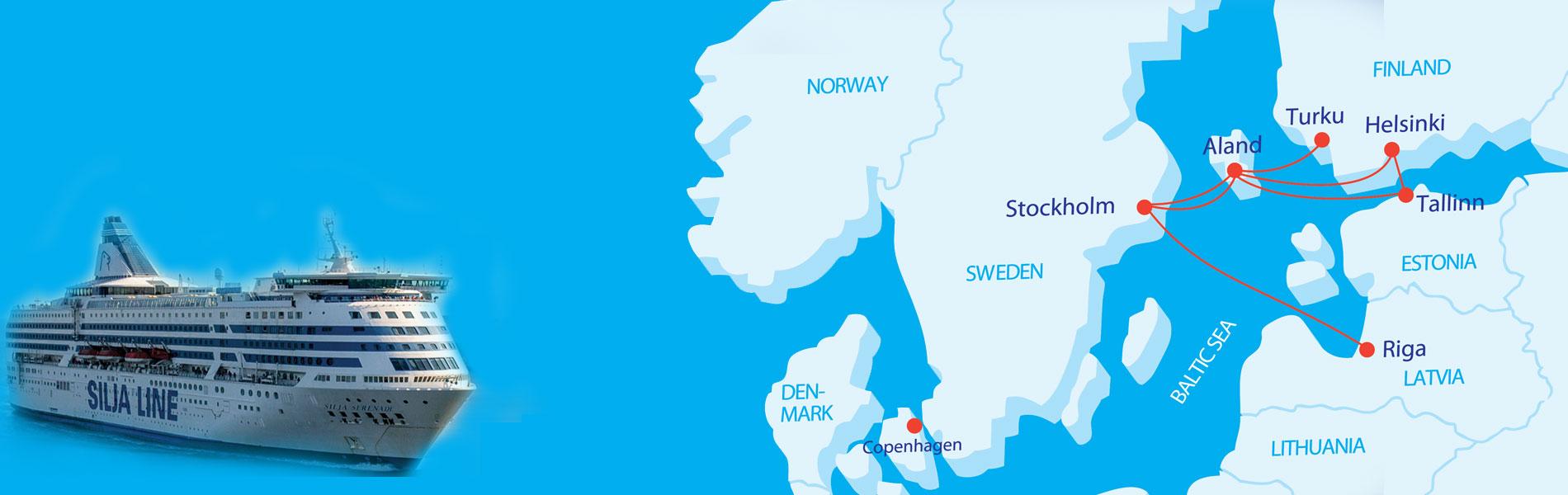 北欧2都市 気軽にバルト海クルーズ!