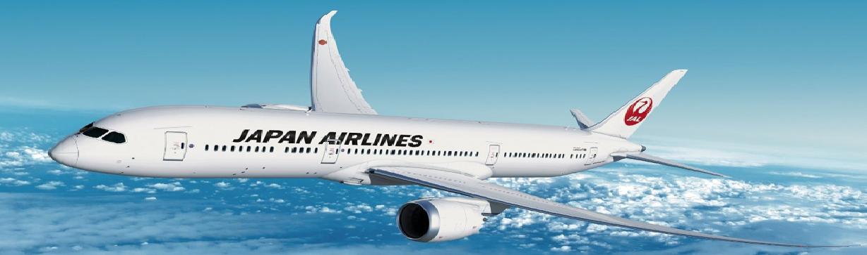 日本の翼で安心フライト JAL・日本航空 €615~